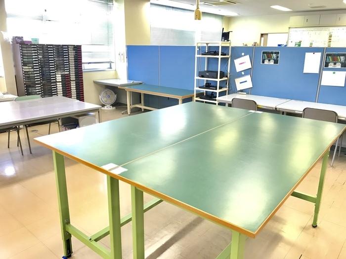 訓練をする作業室です。軽作業や事務作業、清掃作業をしています