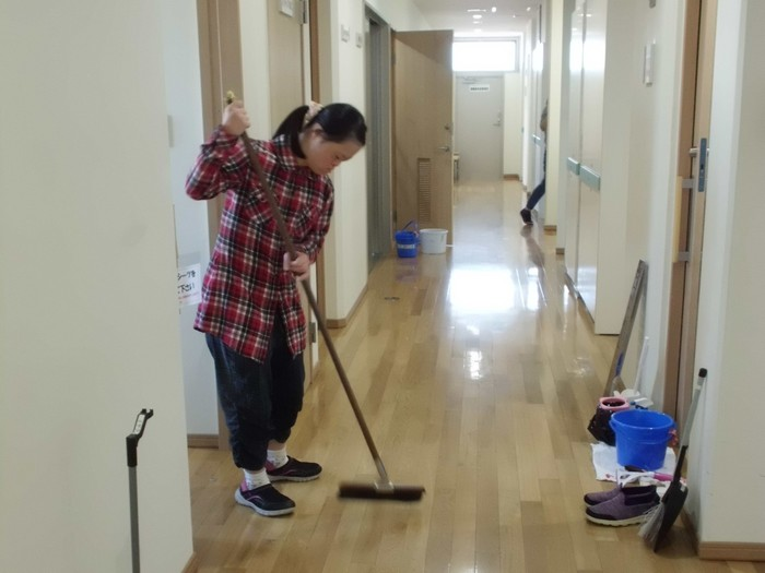 【清掃】同法人のベテル事業所(GH・SS)へ出張清掃へ行きます