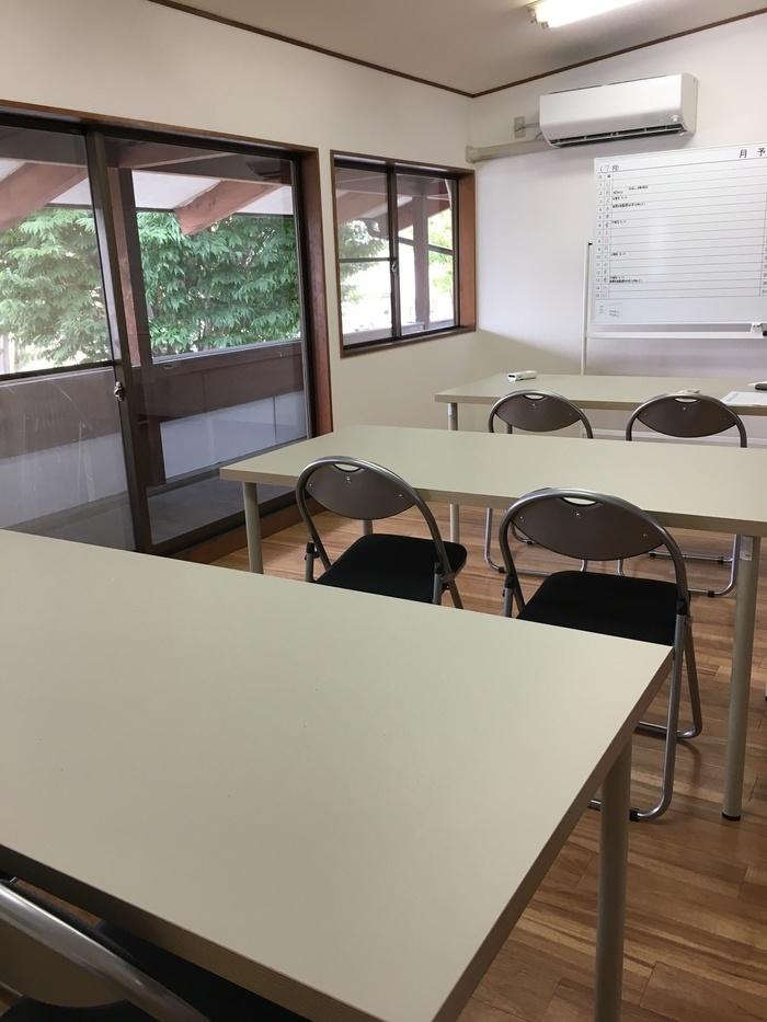 作業訓練室です。こちらで作業やらカリキュラムを受け一緒に考えていきます。
